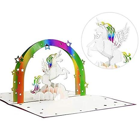 Amazon.com: Tarjeta de cumpleaños 3D para niños, diseño de ...