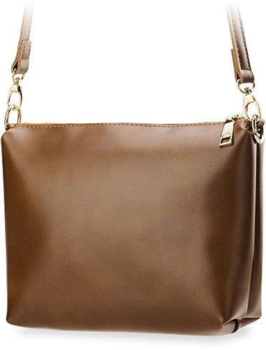 einzigartiges Damentasche - Set 2 in 1 Handtasche und Clutch