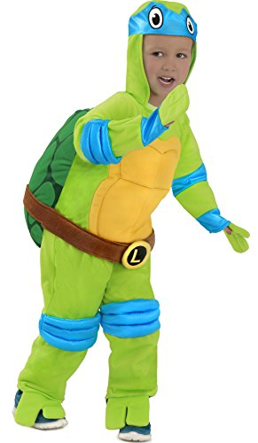 [Teenage Mutant Ninja Turtles Leonardo Costume] (Plush Turtle Kids Costumes)