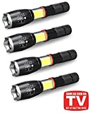 4Pcs Military Grade Tactical Flashlights TACLIGHT PRO Elite Flashlight + Lantern in-1 with Zoom, Magnetic Base As Seen On TV Taclight Pro Flashlights with COB LED Lantern - Get 4 for Only $35.95