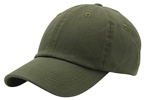 BRAND NEW 2016 Classic Plain Baseball Cap Unisex Cotton Hat For Men & Women Adjustable & Unstructured For Max Comfort Low Profile Polo Style  Unique & Timeless Clothing Accessories - Green Cap Army