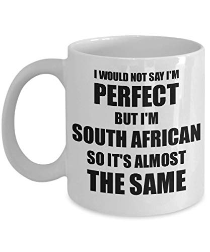 South African Mug Funny South Africa Gift Idea For Men Women Pride Quote I'm Perfect Gag Novelty Coffee Tea Cup