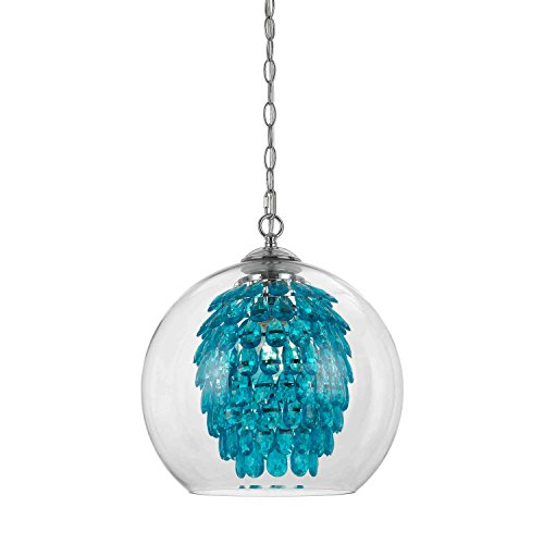 AF Lighting 9102-1H Glitzy Chandelier-Turquoise, 1 Light,