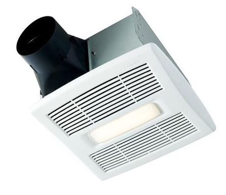 Broan-Nutone  AE110L  InVent Series Single-Speed Fan with LED Light, Ceiling -
