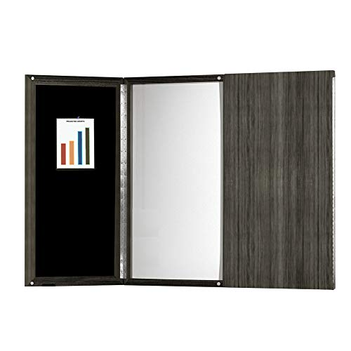 Mayline MNPBLGS Medina Presentation Board with Dry Erase Center Panel, Gray Steel Laminate (Enclosed Presentation Board)