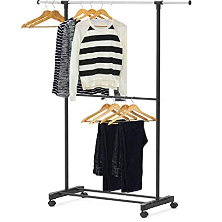 Simple Houseware Standard Dual Rod Garment Rack