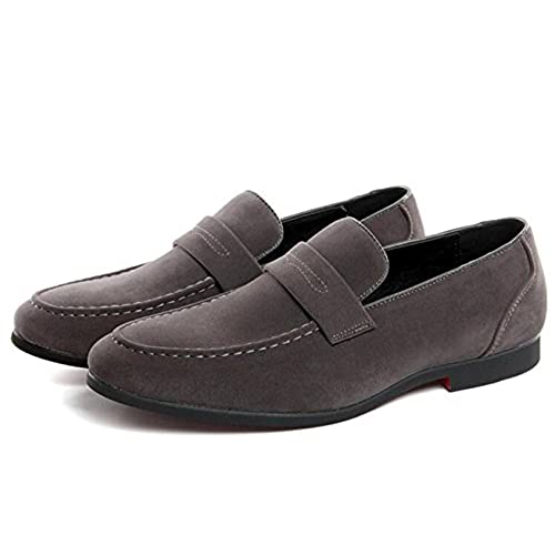 389a164cbb XIUWU Men s Suede Oxford Shoes Slip On Loafers for Men durable modeling