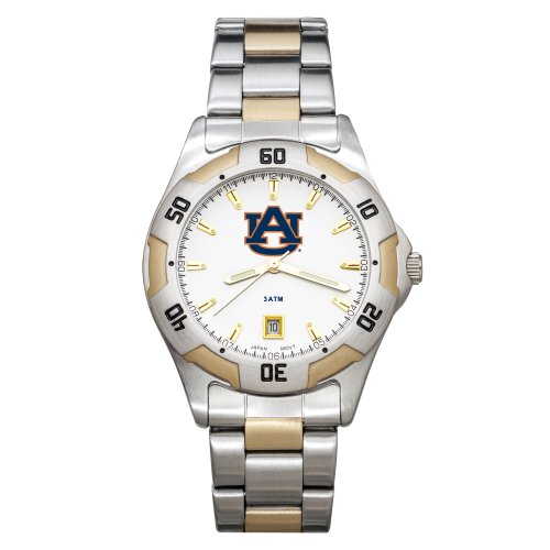 NCAA Auburn Tigers Men's All-Pro Two-Tone Watch by Logo Art