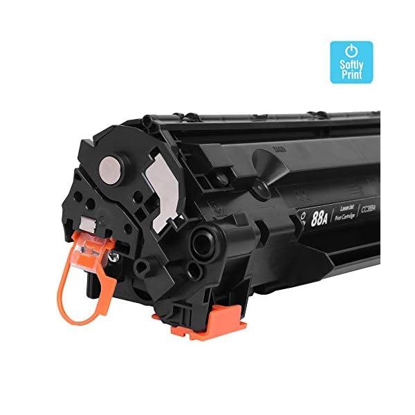 Softly Print 88A CC388A Laserjet Toner Cartridge for HP Laserjet Printer M1136, MFP, P1007, P1106, P1108, P1008, M1213nf, MFP, M126nw MFP, M1218nfs, M128fw MFP, M128fn , MFP, M226DW, M226DN (Black)