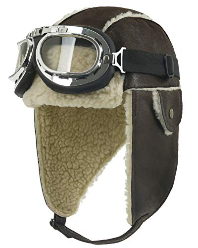A Christmas Story Hat (ililily Aviator Hat Winter Snowboard Fur Ear flaps Trooper Trapper Pilot Goggles, Brown,One Size)
