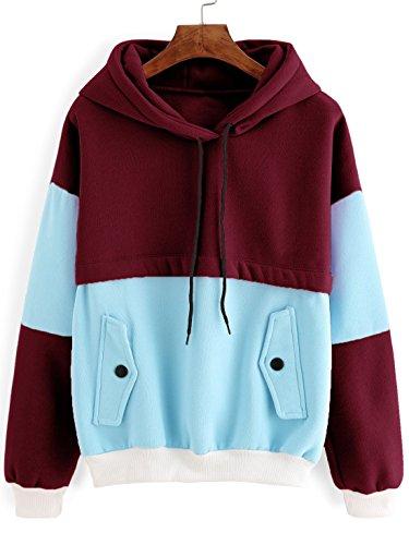 SweatyRocks Sweatshirt Colorblock Pullover Fleece product image