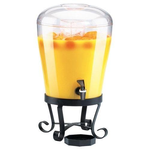 Cal-Mil 1610 Classic Rounded Acrylic Beverage Dispenser, 3 gal, Black (Octagonal Beverage Dispenser)