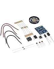 8Eninite DIY Ne555 Oscillator Buzzer Generatore di Tono elettronico LED Kit 8R 0.25W Altoparlante Multicolore Misto