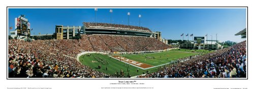 Texas Longhorns Texas Memorial Stadium, Austin, TX - NCAA Collage Football 13.5x39 Panoramic Poster. Frame Dimensions 15.5x41 Deluxe Double Matt & Brown