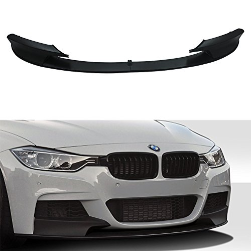 NINTE Front Bumper Lip Spoiler for 2012-2018 BMW F30 3 Series | Performace Style - Only fit M Tech Bumper - 2pcs