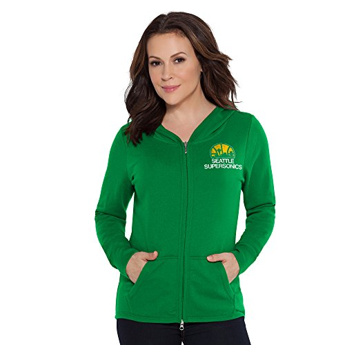 no NBA Seattle Supersonics Tackle Hoodie, Small, Green ()