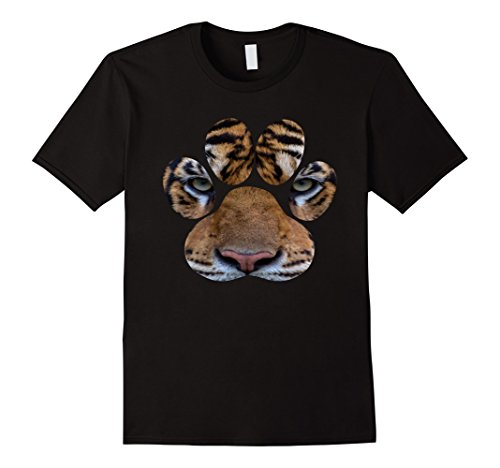 Mens Bengal Tiger Eyes Animal Print Cat Paw Cheetah Lion T-shirt 3XL - Cat Print Tiger