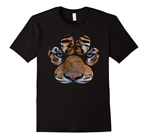 Mens Bengal Tiger Eyes Animal Print Cat Paw Cheetah Lion T-shirt 3XL - Cheetah Print Cats