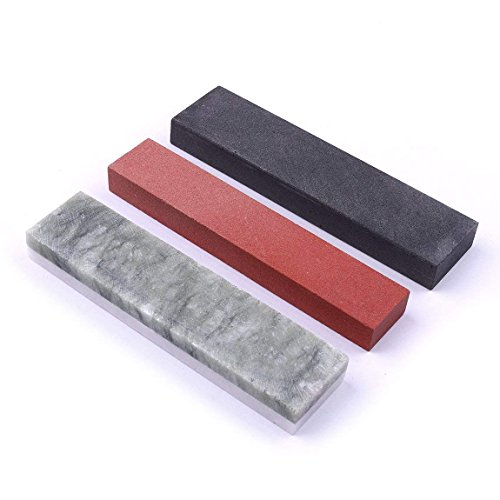 CHEERBRIGHT 3pcs Different Sizes Grinding and Polishing Whetstone Set Knife Sharpener Polishing Oil Stone Assorted (8000#-10000#,800#,320#) - Polishing Oil