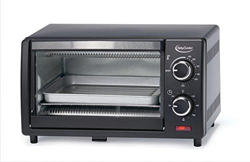(Betty Crocker BC-1664CB Toaster Oven, 0.9 L, Black)