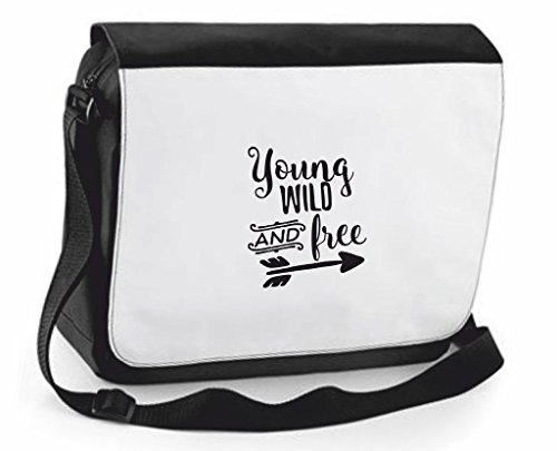 Case Cover Young And Messenger Black Large Free Shoulder Bag Traveling Statement Handbag Wild Compartment Crossbody xTf8qF