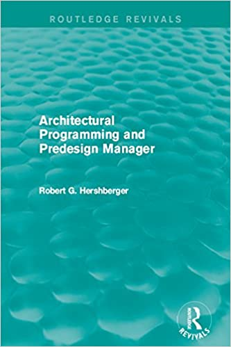Architectural Programming and Predesign Manager (Routledge