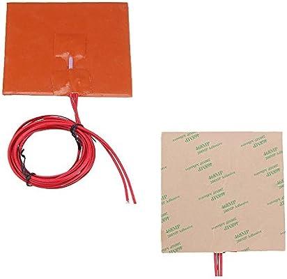 ILS - 100 * 100 mm 12 V 50 W Silicona Calentador Almohadilla de ...