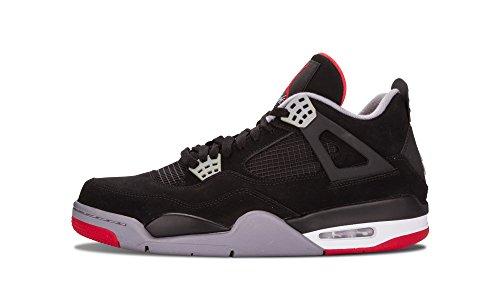 new concept 65d0f df1a2 ... uk amazon air jordan 4 retro black cement grey fire red mens gs shoes  f8a0d b3e31 ...