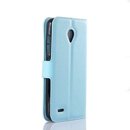 Ycloud Funda Libro para Vodafone Smart Prime 6, Suave PU Leather Cuero con Flip Cover, Cierre Magnético, Función de Soporte,Billetera Case con Tapa para ...
