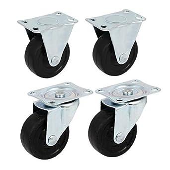 eDealMax 2,5 pulgadas de diámetro de goma sola rueda de la carretilla Caster Polea