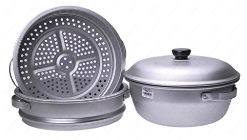 16 inch 3-Tier Aluminum Steamer by Wok Shop by Wok Shop (Image #2)