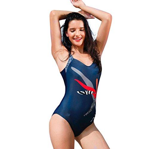 Neartime ❤️Swimwear Women, Hot New Fashion Sexy One Piece Swimsuit Print Bikini Beachwear Bathing Suit (2XL, - Racing Swimwear Uk
