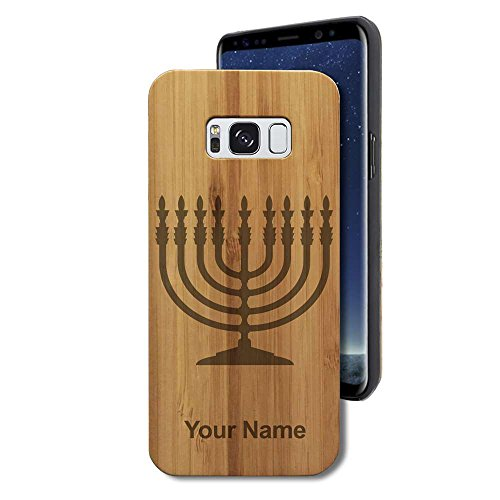 Personalized Menorah - Bamboo Case for Galaxy S8 - Menorah - Personalized Engraving Included