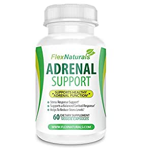 Adrenal Support Supplement to Balance Cortisol Health and Reduce Stress with Ashwagandha and Holy Basil
