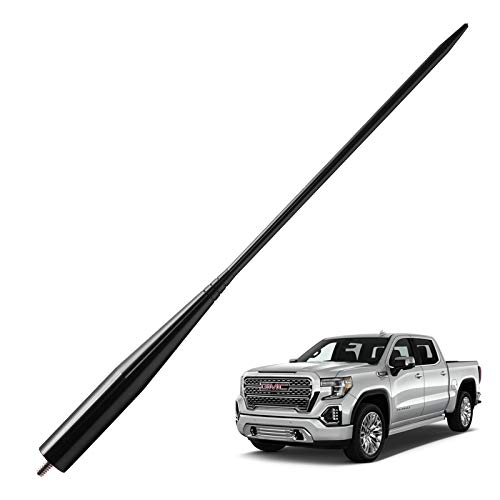 - JAPower Replacement Antenna Compatible with GMC Sierra/Denali Trucks 2007-Current | 13 inches - Black