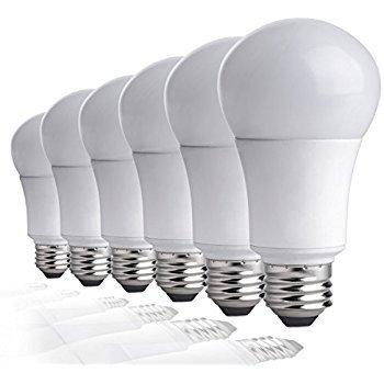 PROTOL 6 Pack LED Light Bulb 7W 900 Lumens (60W Equivalent), Pure White, Energy Saving & Longer Life, Efficient (60-ENLED-7W-2) ()