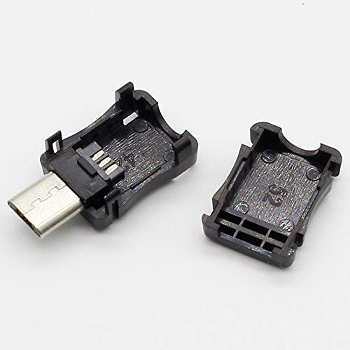 10Pcs Micro USB 5 Pin T Port Male Plug Socket Connector/&Plastic Cover For DIY Dropshipping Top Sale