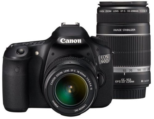 Canon Digital SLR Camera EOS 60D with EF-S18-55mm / EF-S55-250mm Lens Kit - International Version