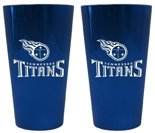 (Tennessee Titans Lusterware Pint Glass Set by Boelter Brands)