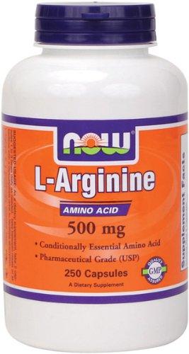 NOW Foods L-Arginine 500mg, 250 Capsules