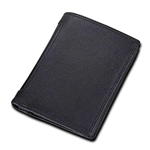 Men Wallets Short Card Pocket Money Clip Vertical Style Male Purses Men Wallets,Black2