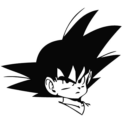 Goku de bola de dragón Head - Carcasa de Vinilo [15 cm negro] extraíble