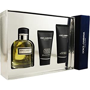 Dolce & Gabbana By Dolce & Gabbana For Men. Set edt Spray 4.2 Ounce & Aftershave Balm 3.4 Ounce & Shower And Shampoo Gel 1.7 Ounce