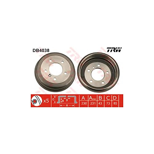 TRW DB4038 Brake Drums: