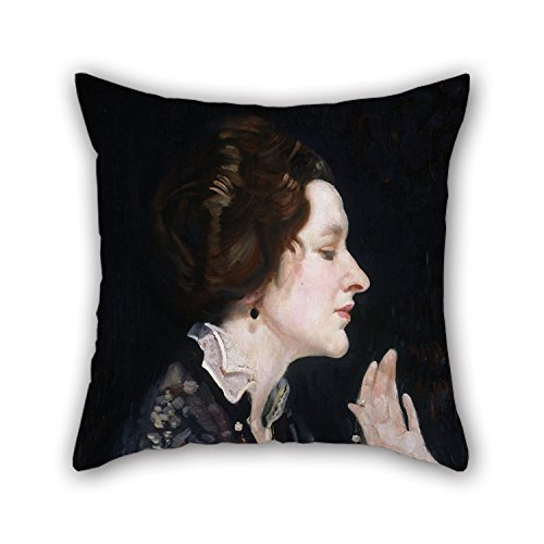 18 X 18 Inches / 45 By 45 Cm Oil Painting George W Lambert - Portrait Of A Lady (Thea Proctor) Throw Pillow Covers,each Side Is Fit For Family,divan,wife,home Theater,saloon,bedroom (Cinemas Thea)