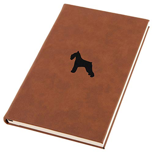 Schnauzer Engraved A5 Leather Journal, Notebook, Personal Diary ()