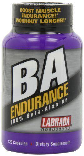 Labrada Nutrition BA Endurance 100 % Beta-Alanine, comte-120 Capsules