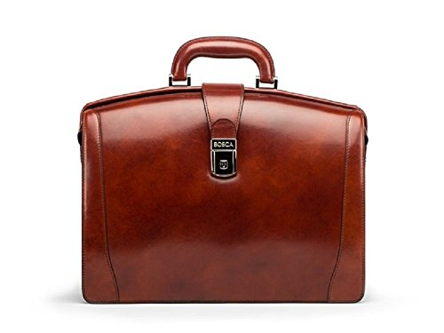 Bosca Old Leather Small Partners Briefcase (Dark Brown) (Bosca Partners Brief)