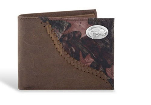 Bass Leather Wallet - Bass - Leather Fence Row Camo Passcase Wallet