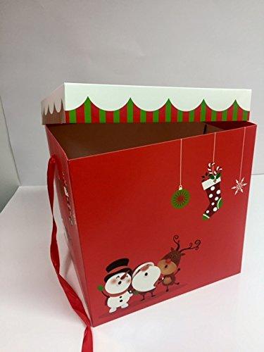 dalbags – Lote de unidades 2 cajas regalo Navidad completo de cordones color con fondo rojo